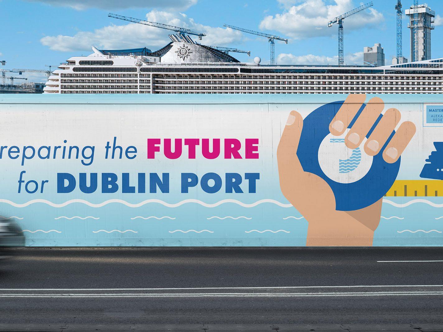L&M Keating Dublin Port Hoarding